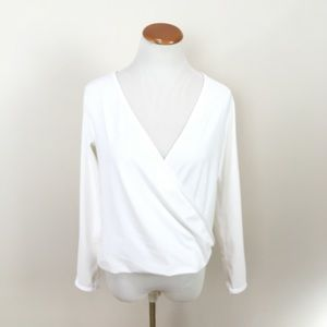 NWOT Lululemon Full Freedom Faux Wrap Top White
